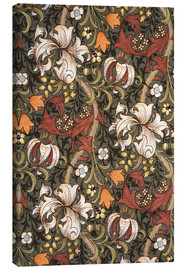 Lærredsbillede  Golden Lily (olive) - William Morris