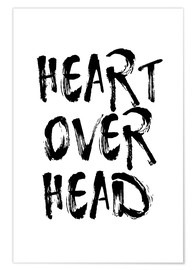 Premium-plakat Heart over head