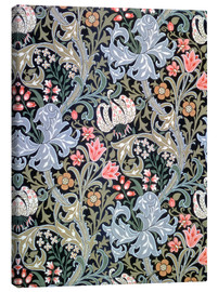 Lærredsbillede  Golden Lily (dark green) - William Morris