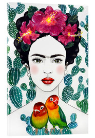 Akrylbillede  Frida's lovebirds - Mandy Reinmuth