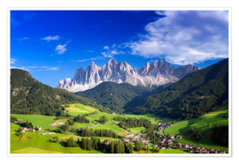 Premium-plakat Summer in south Tyrol