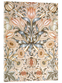 Akrylbillede  Lily and Pomegranate - William Morris