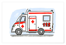 Premium-plakat  Hugos tysk ambulance - Hugos Illustrations