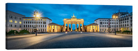 Lærredsbillede  The Brandenburg Gate at night, Berlin, Germany - Jan Christopher Becke