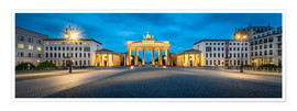 Premium-plakat  The Brandenburg Gate at night, Berlin, Germany - Jan Christopher Becke