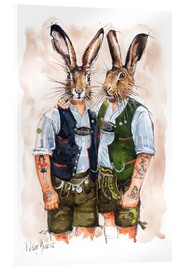 Akrylbillede  Gay Rabbits - Peter Guest