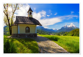 Premium-plakat Lockstein chapel at Watzmann