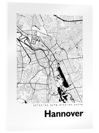 Akrylbillede  City map of Hannover - 44spaces
