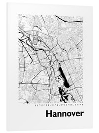 Print på skumplade  City map of Hannover - 44spaces