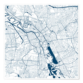 Premium-plakat  City map of Hannover - 44spaces