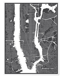Premium-plakat New York USA Map