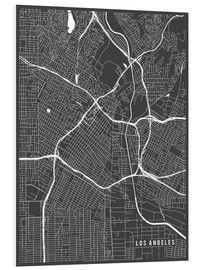 Print på skumplade  Los Angeles USA Map - Main Street Maps