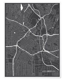 Premium-plakat Los Angeles USA Map
