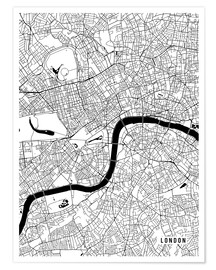 Premium-plakat London England Map