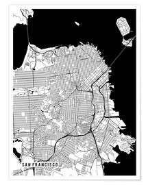 Premium-plakat San Francisco USA Map