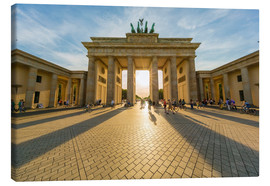 Lærredsbillede  Brandenburg Gate and Pariser Platz - Westend61