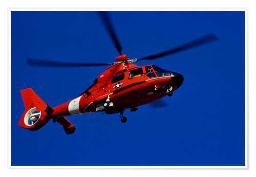 Premium-plakat Coast Guard helicopter
