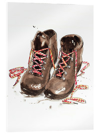 Akrylbillede  Pair of hiking boots - Ikon Images