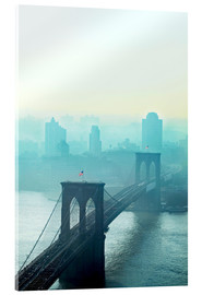 Akrylbillede  Brooklyn Bridge at dawn - Johner