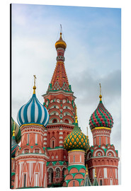 Print på aluminium  St. Basil's Cathedral at Red Square in Moscow - Click Alps