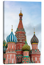 Lærredsbillede  St. Basil's Cathedral at Red Square in Moscow - Click Alps