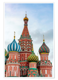 Premium-plakat  St. Basil's Cathedral at Red Square in Moscow - Click Alps