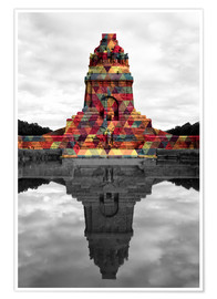 Premium-plakat Monument to the battle of the nations Colour Pop