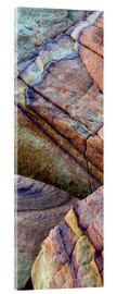 Akrylbillede  Abstract lines in the sandstone - Judith Zimmerman