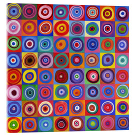 Akrylbillede  In Square Circle 64 after Kandinsky - David Newton