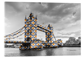 Akrylbillede  Tower Bridge Colour Pop