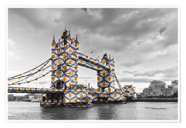 Premium-plakat Tower Bridge Colour Pop