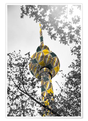 Premium-plakat TV tower Colour Pop