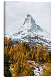 Lærredsbillede  Matterhorn mountain peak in autumn  View from Riffelalp, Gornergrat, Zermatt, Switzerland - Peter Wey