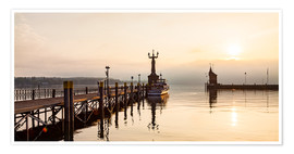 Premium-plakat Morning mood in Constance on Lake Constance