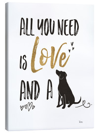 Lærredsbillede  All you need is love and a dog - Veronique Charron