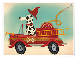 Premium-plakat  K9 fire department - Ryan Fowler