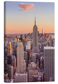 Lærredsbillede  Manhattan skyline, Empire State Building, sunset - Neale Clarke