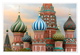 Premium-plakat  St. Basil's Cathedral in Moscow - Miles Ertman