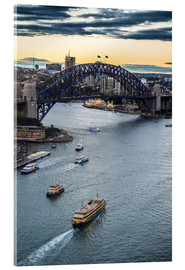 Akrylbillede  View over Sydney Harbor - Michael Runkel