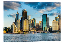 Akrylbillede  The skyline of Sydney at sunset - Michael Runkel