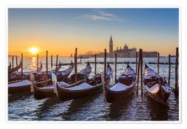 Premium-plakat Venetian winter sunrise