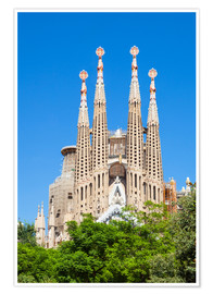 Premium-plakat  La Sagrada Familia church in Barcelona - Neale Clarke
