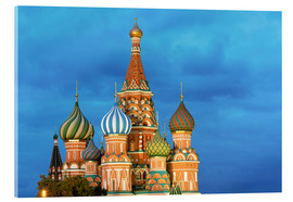 Akrylbillede  Brilliant St. Basil's Cathedral in Moscow - Miles Ertman