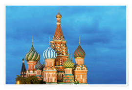 Premium-plakat  Brilliant St. Basil's Cathedral in Moscow - Miles Ertman