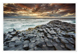 Premium-plakat An evening view of the Giant's Causeway