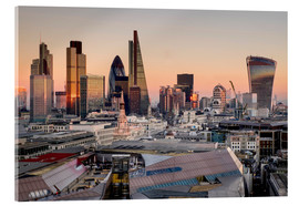 Akrylbillede  London skyline from St Pauls Cathedral - Charles Bowman