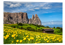Akrylbillede  Spring on the Alpe di Siusi in South Tyrol - Achim Thomae