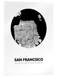 Akrylbillede  City map of San Francisco - 44spaces