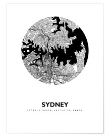 Premium-plakat  City map of Sydney - 44spaces