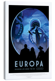 Lærredsbillede  Retro Space Travel ? Europa